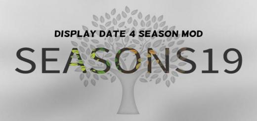 Photo of FS19 – Display Date 4 Season Mod V1