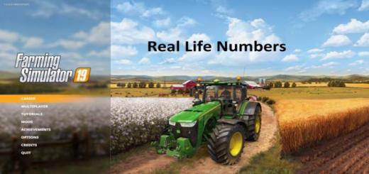 Photo of FS19 – Reallifenumbers V1.2.0.0