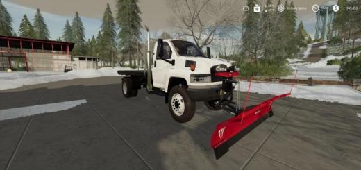 Photo of FS19 – Gmc Topkick Flatbed Plow Truck V2