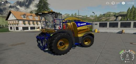 Photo of FS19 – Krone Big X 1180 Nerd Blue Mp V1.1