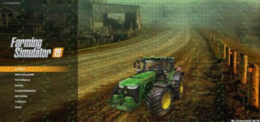 Photo of FS19 – Menu Background – Autumn Dirt Road V1