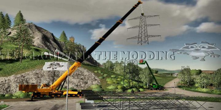 FS19 - Pilone Haute Tension En Construction V1