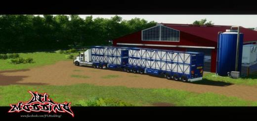 Photo of FS19 – Rytrans B-Double Cattle Trailers V1