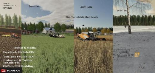 Photo of FS19 – Tervalehti Multifruit Map V1.0.2.1