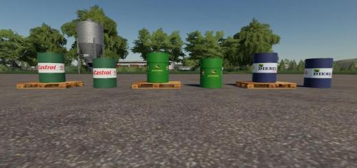 Photo of FS19 – 500L Diesel Barrel Pack V1