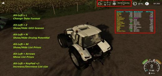 Photo of FS19 – Display Date 4 Seasons V1.0.0.6