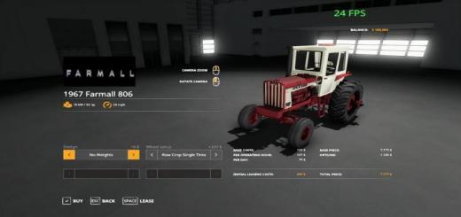 Photo of FS19 – Farmall 806 Tractor V1