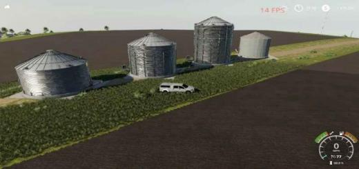 Photo of FS19 – Gsi Grain Bins Pack V1
