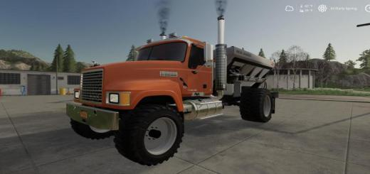 Photo of FS19 – Mack Pinnacle Spreader Truck V1