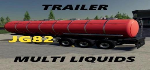 Photo of FS19 – Multi Liquid Trailer V1