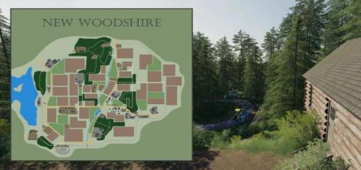 Photo of FS19 – New Woodshire Map V1.1