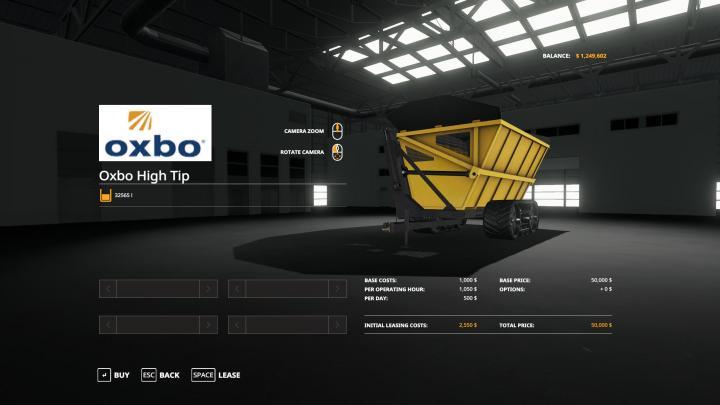 FS19 - Oxbo Dump Cart V1