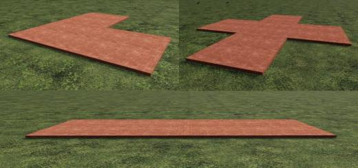 Photo of FS19 – Placeable Red Slabs V1