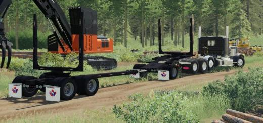 Photo of FS19 – Pole Trailer And Jeep V1