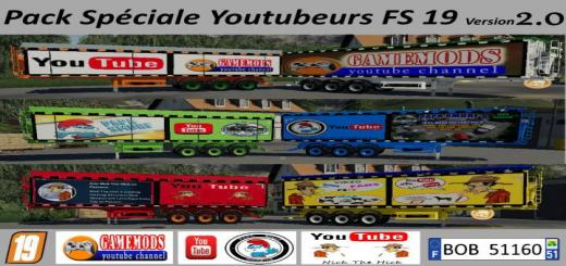Photo of FS19 – Speciale Youtubeurs Pack V2