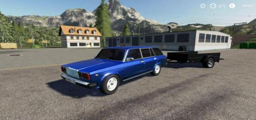 Photo of FS19 – Vaz 2104 And Trailer V2