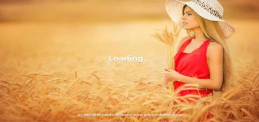 Photo of FS19 – Blonde Woman In Wheat Farm Menu Background V1