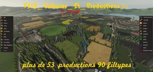 Photo of FS19 – Cultures Et Productions Map V2