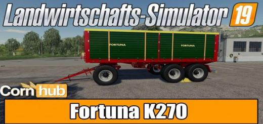 Photo of FS19 – Fortuna K270 Trailer V1.2.0.1