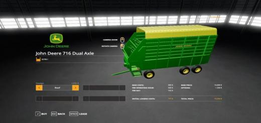 Photo of FS19 – John Deere 716 Dual Axle Forage Box V1