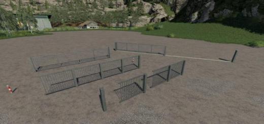 Photo of FS19 – Metal Gates And Fences Prefab V2.1