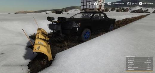 Photo of FS19 – Pickup 2014 Snow Plow V1