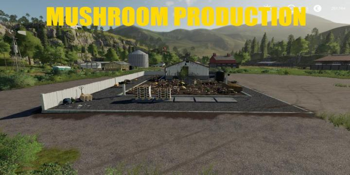 FS19 - Placeable Mushroom Production V1