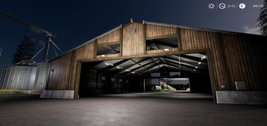 Photo of FS19 – Placeable Vehicle Shed Large