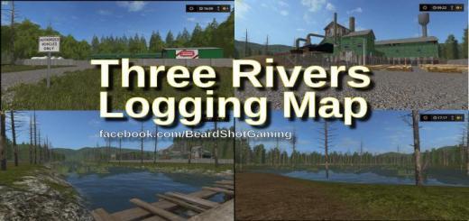 Photo of FS19 – Three Rivers Logging Map V1.1