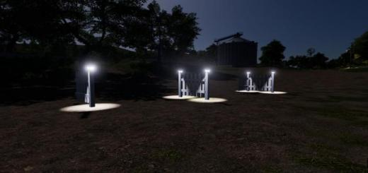 Photo of FS19 – White Placeable Fences With Lights V2