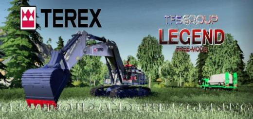 Photo of FS19 – Excavator Terex Rh90F Dirth V1.5