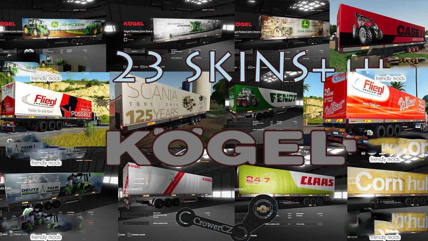 Photo of FS19 – Kogel Autoloader Pack Trailers 23+ Skins V1