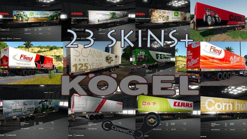 Photo of FS19 – Kogel Autoloader Pack Trailers 23+ Skins