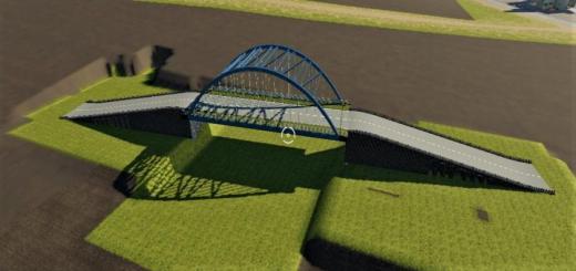 Photo of FS19 – Large Positionable Bridge V1