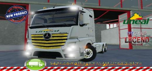 Photo of FS19 – Mercedes Actros Uneal V1.5