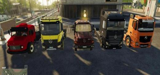 Photo of FS19 – Mods Pack – Mercedes Trucks Pack V1