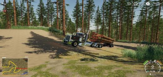 Photo of FS19 – Peterbilt 389 Pole Truck V1