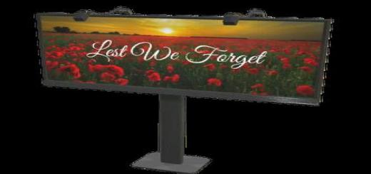 Photo of FS19 – Placeable Remembrance Day Billboard V1