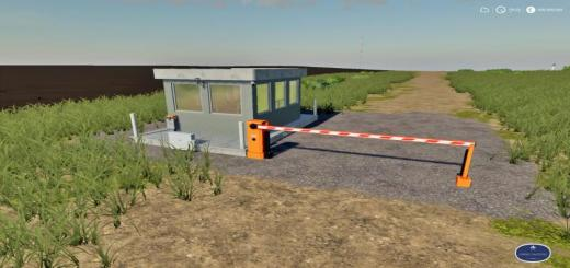 Photo of FS19 – Placeable Security Booth With Barrier V1
