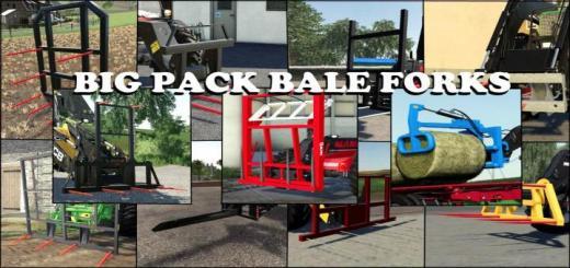 Photo of FS19 – Big Pack Bale Forks V1