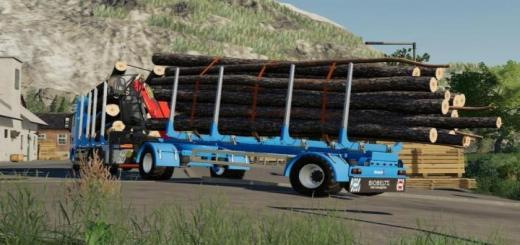 Photo of FS19 – Biobeltz Turntable Timber Trailer V1