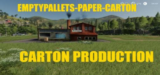Photo of FS19 – Carton Prodduction V1.0.6