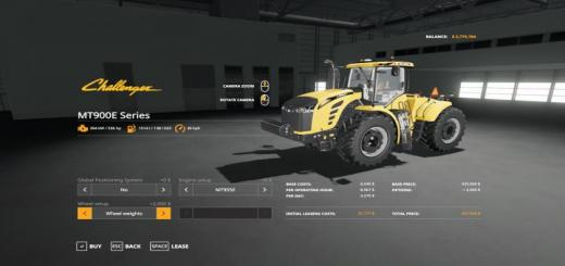 Photo of FS19 – Challenger Mt900E Tractor V1