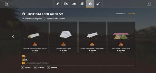 Photo of FS19 – Hot Ballenlager V2.0.3