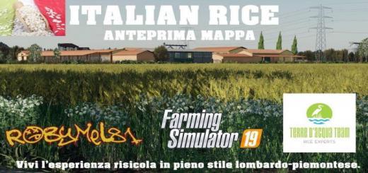 Photo of FS19 – Italian Rice Map V1