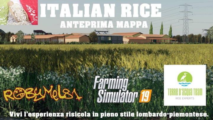 FS19 - Italian Rice Map V1