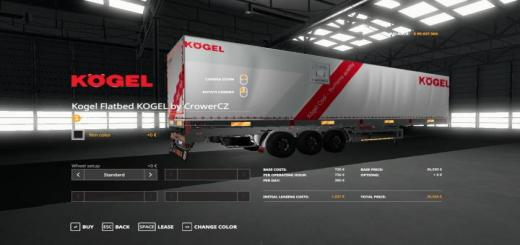 Photo of FS19 – Kogel Original Autoloader Trailer V1