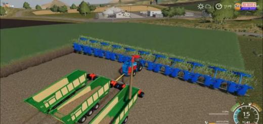 Photo of FS19 – Krone Bigx +50M Crazy Sugarcane Harvester And Cutter V1
