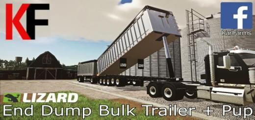 Photo of FS19 – Lizard End Dump Bulk Trailer + Pup Trailer V1