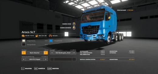 Photo of FS19 – Mercedes Actros Slt 8X4 V1.1